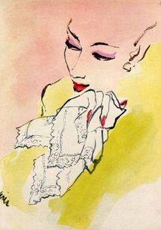 Carl 'Eric' Erickson (1891-1958, American), 1943, Lacy Handkerchief by Bloch Frères Ad.