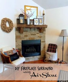 Sweet Parrish Place: DIY Airstone Fireplace Reveal   DIY {Home ...