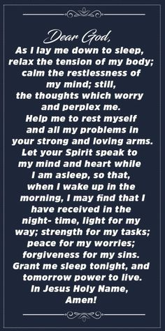 Powerful Prayer Before Sleep Daily Devotional Prayer, Prayer Verses, Prayer Quotes, Daily Prayer, Bible Verses, God Prayer, Prayer Before Sleep, Sleep Prayer, Bedtime Prayer
