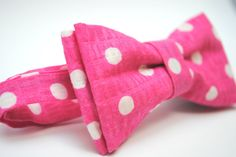 Bow Tie for Newborn, Infant, Toddler, Boy - Pink Polka Dot. $20.00, via Etsy.