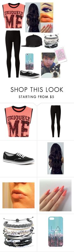 """""""Selfies w/ Jc Caylen & Wishbone"""" by lillysfashion ❤ liked on Polyvore featuring Lorna Jane, Rick Owens Lilies, Vans, Domo Beads, Vision and Flexfit"""