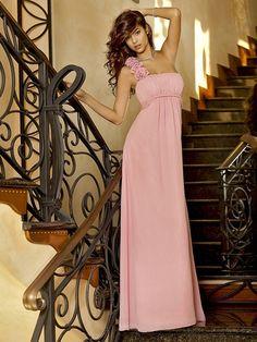A-Line/Princess One-Shoulder Sleeveless Floor-length Chiffon Bridesmaid Dresses