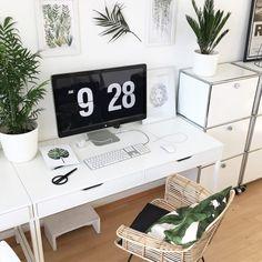 Home Office Ideen für den Arbeitsplatz #botanical #greenliving #workspace #Homeoffice #arbeitsplaz