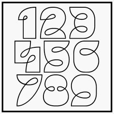 Numbers to Zentangle Inside!