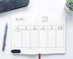 Programmando il Lunedì.  Planning Monday. #bulletjournal