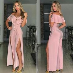 Chic Outfits, Dress Outfits, Fashion Dresses, Pink Party Dresses, Prom Dresses, Pink Parties, Colourful Outfits, Linen Dresses, Fashion 2018