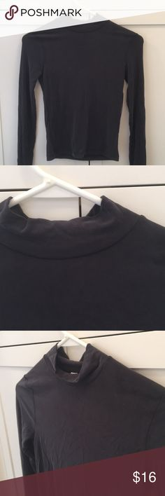 American Apparel Mock Neck Shirt Super soft brushed shirt from American Apparel. Dark grey. NWT! Never been worn. Size S. Stretchy material. American Apparel Tops