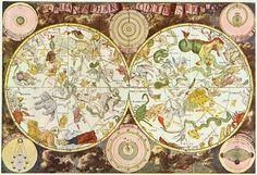 Mapa 'Firmamentum Sobiescianum sive Uranographia' (1690), do astrônomo Johannes Hevelius.