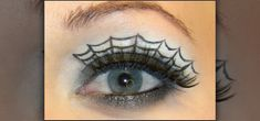 How to Create a spiderweb eye makeup look for Halloween