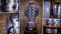 Le 29 Mai prochain marquera la centième course d'Indianapolis 500 et Mattel a décidé de célébrer cela avec la construction d'un trophée du vainqueur façon Hot Wheels. Celui-ci fait un peu plus de 2.50 mètres de haut et il est orné de 99 Hot Wheels qui représentent les vainqueurs des éditions précédentes de la course. Vous pourrez voir tout cela dans la vidéo ci-dessous.