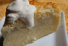 The Amazing Crustless Coconut Pie Yes, you heard correctly. It's a crustless pie and it's crazy simple to make. I first had it around 1990 or 1991 when my mother and I visited a tea room in Stafford, Texas. The tea room… Retro Recipes, Pie Recipes, Cooking Recipes, Recipies, Simple Recipes, Köstliche Desserts, Delicious Desserts, Yummy Food, Coconut Desserts