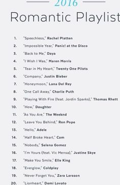 Song list romance learning go musicsongs song list romance list romance song trendy wedding songs playlist father daughter ideas Love Songs For Him, Best Love Songs, Good Vibe Songs, Songs About Love, Best Music, Slow Love Songs, Best Songs List, Cute Songs, Music Lyrics
