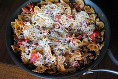 taco pasta skillet - Made this at Patrick's house in Fall 2012