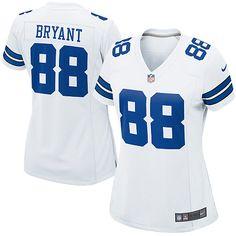 NFL Women's Elite Nike Dallas Cowboys #88 Dez Bryant White Color Jersey