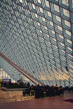 """""""Seattle Public Library,"""" by Jonathan Broderick, via 500px -- Stunning shot! Click through to the photostream to see more shots of this library."""