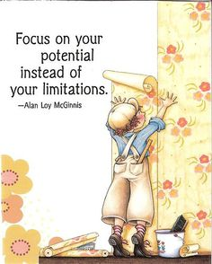 Focus on Potential Instead of Limitations Wallpaper Magnet Mary Engelbreit Art