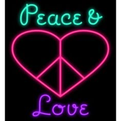 Peace  Love Neon Sign - Love Neon Signs