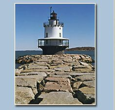 Spring Point Ledge Light, Maine-       A lighthouse with a wrap-around covered front porch- the best of both worlds!