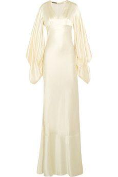 Alexander McQueen Silk-satin gown   NET-A-PORTER