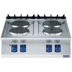sopas Restaurant Kitchen Equipment 700 series Stainless Steel Commercial 4 burner Electric Hot Plate