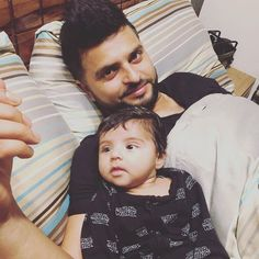 Suresh Raina with his daughter Gracia - http://ift.tt/1ZZ3e4d
