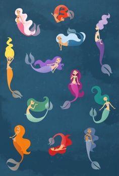 Many Mermaids by Sara Showalter