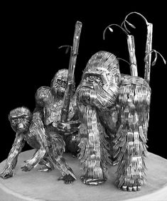 Made out of silverware....Amazing!