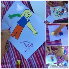 Do you have paper and glue? Try this fun and simple mix and match body part collage with your preschoolers. Supplies Colored paper Markers Scissors Glue or Tape Directions Draw and cut out various body parts on the colored paper. Invite your child design a body and glue onto a sheet of paper. Optional: put …