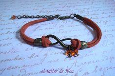 Pulseras ref. ibi15005. Infinito conjugado en múltiples colores. Una pulsera casual que da mucho juego. Más en www.eltallerdenoa.com Consultas eltallerdenoa@gmail.com #bisutería #jewelry #bracelet #joyería