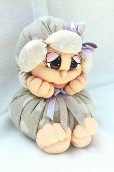 Sock Dolls, Baby Dolls, Clay Crafts, Fun Crafts, Fruit Animals, Christen, Soft Sculpture, Fabric Dolls, Handmade Toys