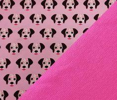 Set Jersey Hunde + Bündchen in 3 Farben