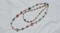 Cane Glass Bead Necklace by HillsideCreations on Etsy, $20.00