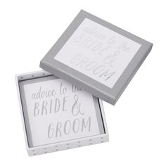 ADVICE TO THE HAPPY COUPLE 25PK: HAPPILY EVER AFTER  http://www.kikki-k.com/advice-for-bride-groom-25pk-happily-ever-after
