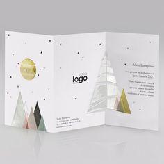 Carte de vœux spécial entreprises - En soutien à La Ligue contre le cancer - Collection design - Réf X898