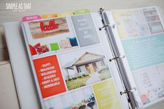 simple as that: A Peek Inside my 2013 Life Planner--make a plan for your home.