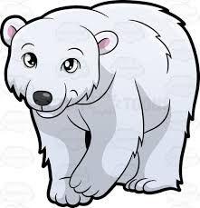 Image Result For Polar Bear Clipart Black And White Cartoon Drawings Of Animals Polar Bear Cartoon Bear Cartoon