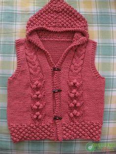 Switch] young beautiful short Hooded Vest - Pineapple Flowers - Mei Jing - meijing5759