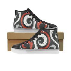 Vintage Red Spirals Custom Light Up Men's Shoes Light Up Shoes, Custom Lighting, Spirals, Men S Shoes, High Top Sneakers, Purple, Heels, Model, Red