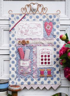 """The Sewing Room"" by Sally Giblin of The Rivendale Collection. #TheRivendaleCollection stitchery, appliqué and patchwork patterns. www.therivendalecollection.com.au"