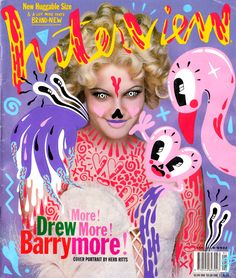 Hattie Stewart doodlebombs Drew Barrymore Interview cover