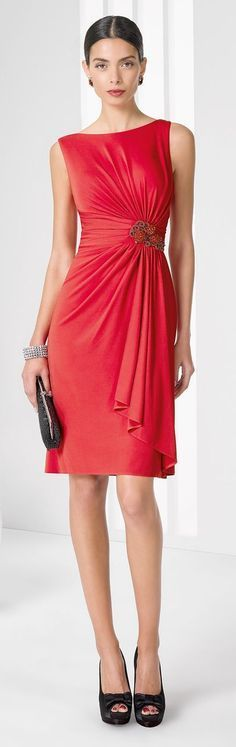 @roressclothes clothing ideas #women fashion red dress Rosa Clará 2016 Cocktail Collection
