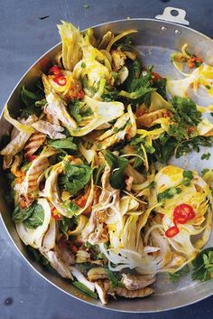 Saffron Chicken & Herb Salad by Yottam Ottolenghi ~ great way to serve fennel!