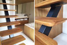 Collaboration KOZAC et ORA ÏTO. Un escalier à limon central design, aux lignes épurées.