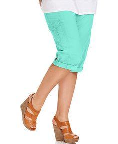Style Plus Size Pants, Cargo Capri - Plus Size Capris - Plus Sizes ...
