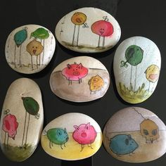 Non stop Fashions: 7 DIY IDEAS OF PAINTED ROCKS