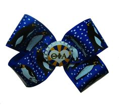 Theta Phi Alpha hair bow. I clearly have to have this