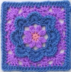 "MoCrochet - Melinda Miller Designs: Charming - 6"" Square... Free pattern! ༺✿Teresa Restegui http://www.pinterest.com/teretegui/✿༻"