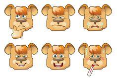 Set of bears emoji.