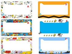 Snoopy Peanuts Gang Comic Strip Collage License Plate Fra…