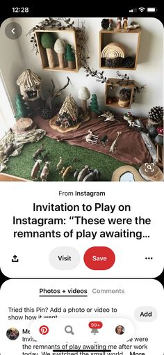 Curiosity Approach, Small World Play, Work Today, Diy For Kids, Invitations, Photo And Video, Inspiration, Instagram, Biblical Inspiration